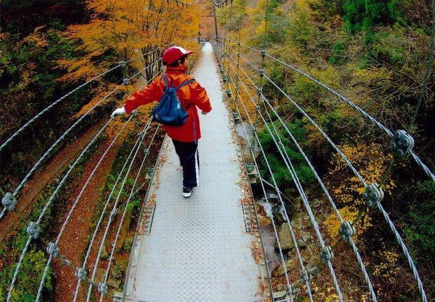 原不動滝の紅葉