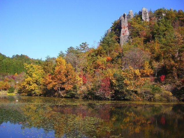 裏耶馬渓の紅葉