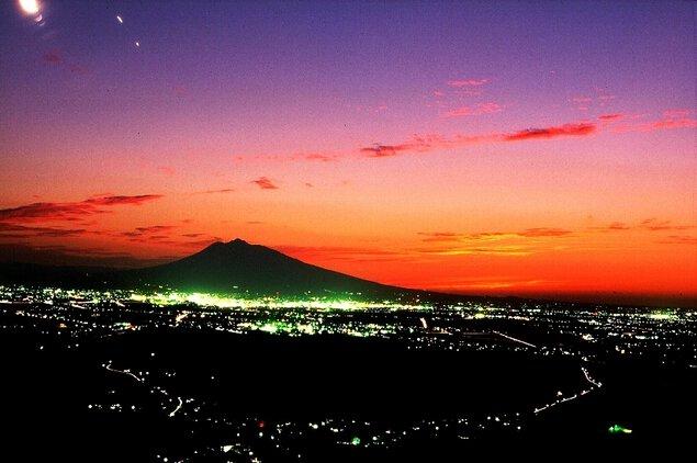 志賀坊森林公園の夜景
