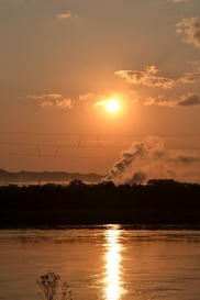米代川 中川原堤防