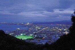 日峯大神子広域公園 展望広場の夜景