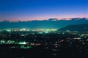 甲州市勝沼ぶどうの丘の夜景