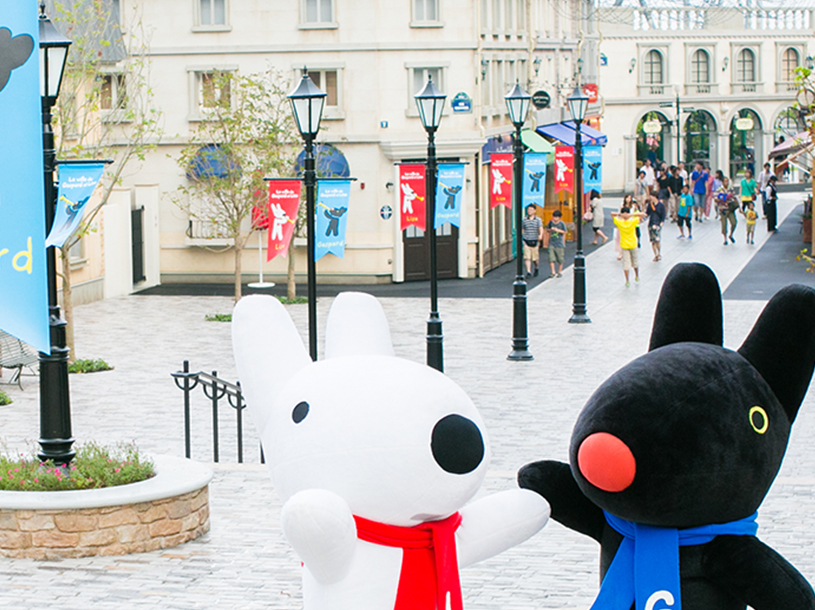 フランスの街並みを堪能しよう(画像提供:リサとガスパールタウン)