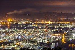 水島展望台の夜景