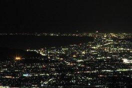 伊豆スカイライン 池の向駐車場の夜景