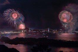 アジアポートフェスティバル in KANMON 2019 関門海峡花火大会 画像(3/3)