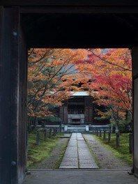 本尊釈迦如来坐像、文殊普賢菩薩像が安置されている本堂