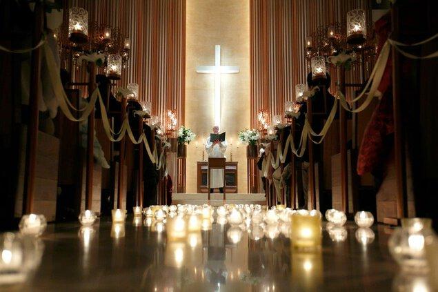 覚王山ル・アンジェ教会 クリスマスイルミネーション2019