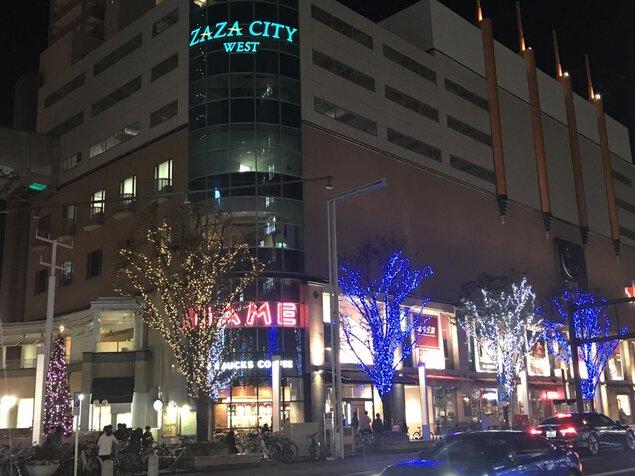 ザザシティ浜松 イルミネーション2019